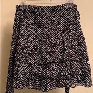 Celia Birtwell for Express b/w polka dot skirt